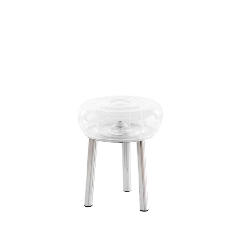 Floofy Stool Stainless Steel Frame_Transparent