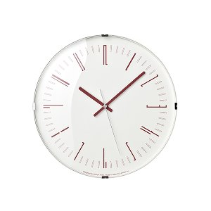 Draw Wall Clock Dome Red