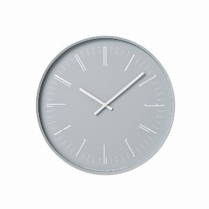 Draw Wall Clock Grey