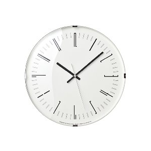 Draw Wall Clock Dome Black