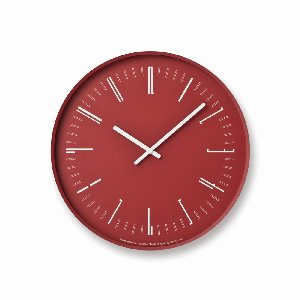 Draw Wall Clock Red