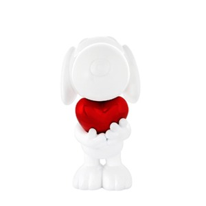 Snoopy Heart_White